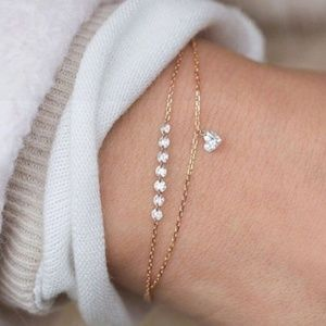 Jewelry - NEW crystal heart double layer bracelet